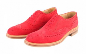 London Langham Red Suede