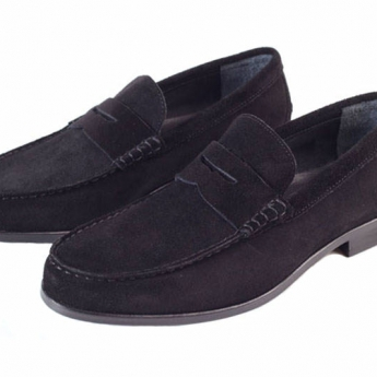London Portland Black Suede
