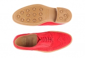 London Langham Red Suede  - 1