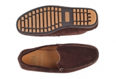Moccasins Algarve Brown Suede  - 1